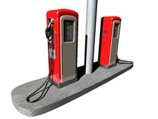 Free Retro Gas Station Stock Images - 35291124