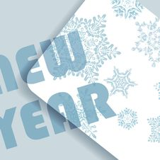 Free Blue Christmas Card With Snowflakes Stock Photography - 35294832