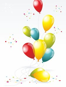 Free Beautiful  Balloons Stock Photography - 35295322
