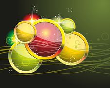 Free Colorful Rainbow Circle Abstract  Background. Royalty Free Stock Photo - 35295955