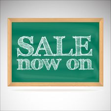 Free Sale Now On - The Inscription Chalk Stock Photo - 35298710