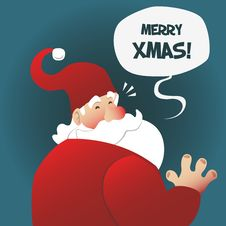 Free Santa Wishes You Merry Christmas Stock Photography - 35299952