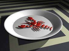 Free Crab On The Plate Royalty Free Stock Image - 3530366