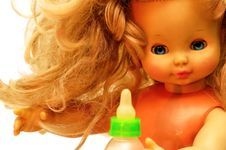 Free Blonde Vintage Children Doll 6 Royalty Free Stock Photo - 3531235