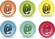 AT Icon In Glass Balls Royalty Free Stock Photo