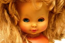 Free Blonde Vintage Children Doll 9 Stock Image - 3531391