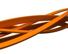 Free Orange Ribbons Royalty Free Stock Photo - 3531815