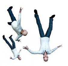 Free Falling Men 4 Stock Image - 3532431