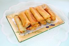 Fried Springrolls Royalty Free Stock Image