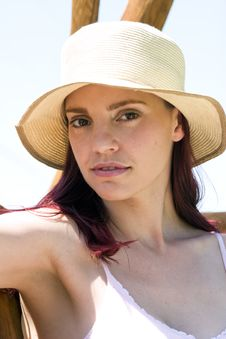 Free Summer Hat Royalty Free Stock Photo - 3532685