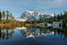 Free Afternoon At Picture Lake Royalty Free Stock Photos - 3533448