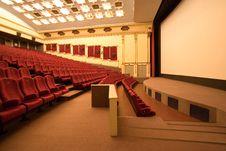 Free Empty Cinema Auditorium Royalty Free Stock Images - 3534579