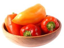 Free Peppers On Plate Stock Photos - 3534913
