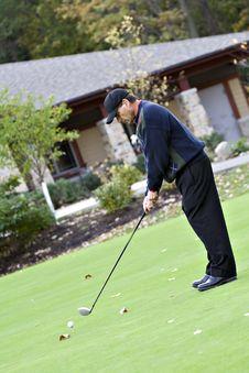 Free Man Golfing Stock Image - 3535091