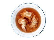 Wontons Dumplings Soup Stock Image