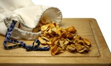 Dried Apple Slices Royalty Free Stock Photography