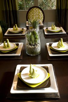 Free Luxurious Dining Table Stock Photography - 3537802