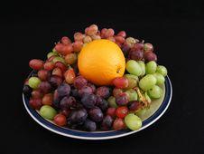 Free Orange And Grapes 1 Stock Photos - 3538153