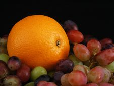 Free Orange And Grapes 3 Stock Images - 3538164