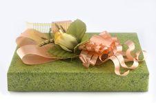 Green Gift Box Royalty Free Stock Photos