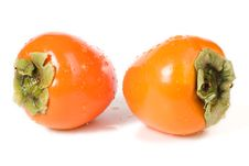 Free Hachiya Persimmons On White Royalty Free Stock Photo - 3538685