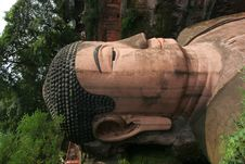 Grand Buddha Statue In Leshan Royalty Free Stock Photo