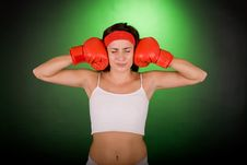 Free Boxing Girl Royalty Free Stock Photos - 3539708