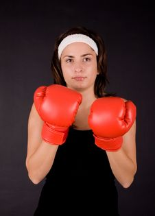 Free Boxing Girl Stock Images - 3539764