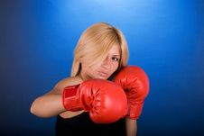 Free Boxing Girl Stock Photo - 3539820