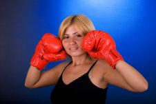 Free Boxing Girl Stock Images - 3539864