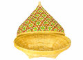 Free Bamboo Basket With Open Lid Royalty Free Stock Photos - 35305328