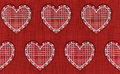 Free Embroidery Hearts Seamless Stock Image - 35305481
