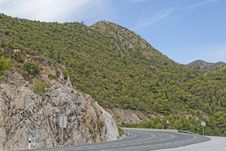 Free Mountain Road Spain Royalty Free Stock Photo - 35300705