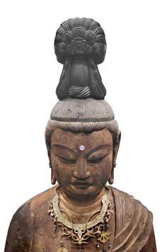 Free Ancient Japanese Sculpture Isolated Stock Image - 35301001