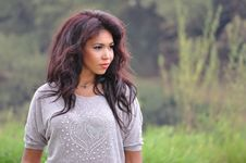 Free Portrait Of An Attractive Young Woman Stock Photography - 35301502