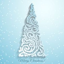 Free Stylized Christmas Tree Royalty Free Stock Photo - 35302125