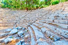 Ruins Of The Ancient Amphitheater Stock Photography