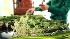 Free Florist Arranging Flower Bouquet Stock Image - 35303871