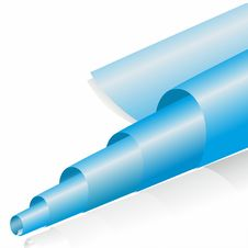 Free Abstract Blue Paper Roll Royalty Free Stock Photos - 35304928