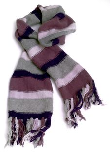 Free Warm Knitted Scarf Royalty Free Stock Photo - 35307265