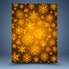 Free Christmas Brown Abstract  Background Royalty Free Stock Images - 35309599