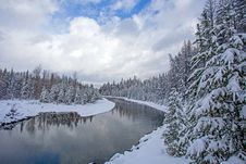 Free McDONALD CREEK AFTER A FRESH SNOWFALL Stock Photography - 35309722