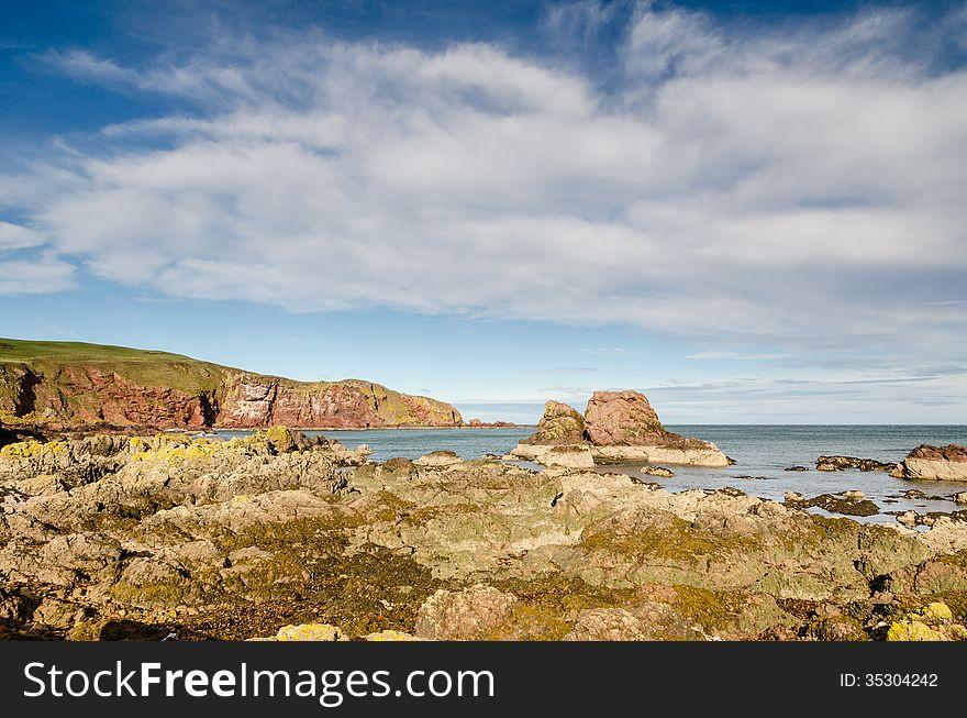 St Abbs rocky shoreline