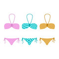 Free Set Of Illustrations Bikini Stock Photography - 35314242