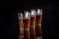 Free Three Glasses Of Liquor Royalty Free Stock Images - 35314849