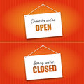 Free Open And Closed Door Signs Board Stock Photos - 35316853