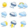 Free Weather Icon Set Royalty Free Stock Photos - 35319898