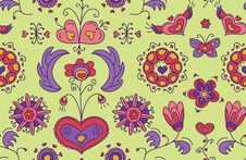 Free Heart Flower Background Royalty Free Stock Images - 35315609
