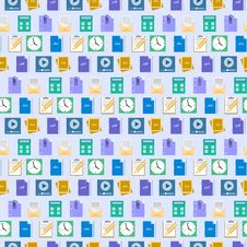 Free Seamless Flat Web Icons And Simbols Pattern Royalty Free Stock Images - 35316529