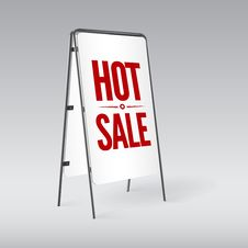 Free Pavement Sign With The Text Hot Sale Stock Photography - 35316892